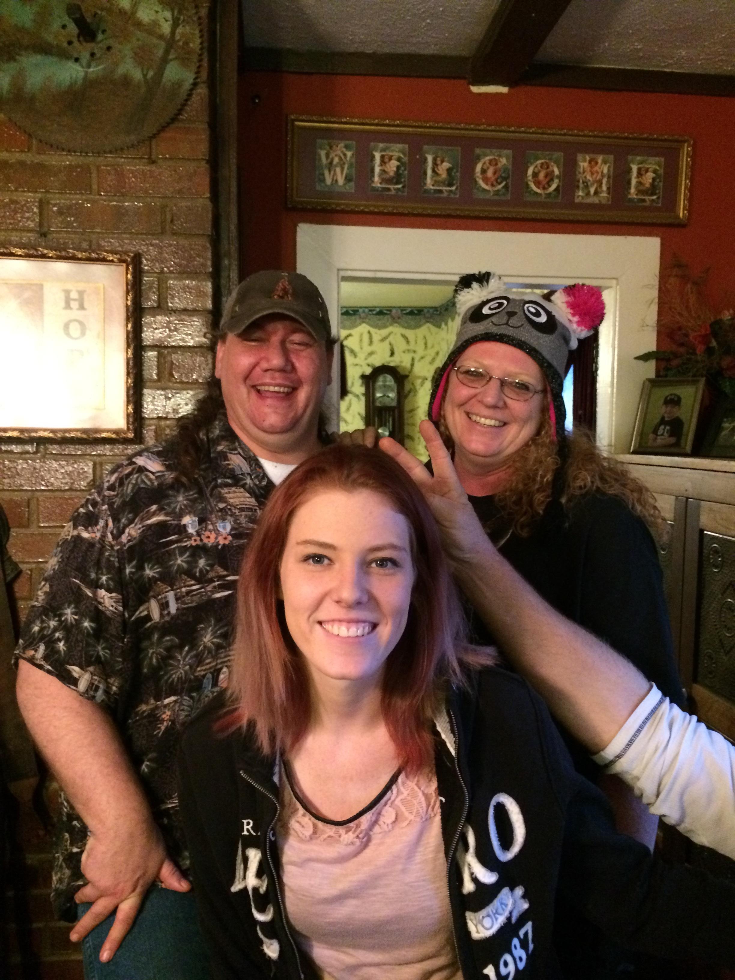 James, Michelle and Cheyenne