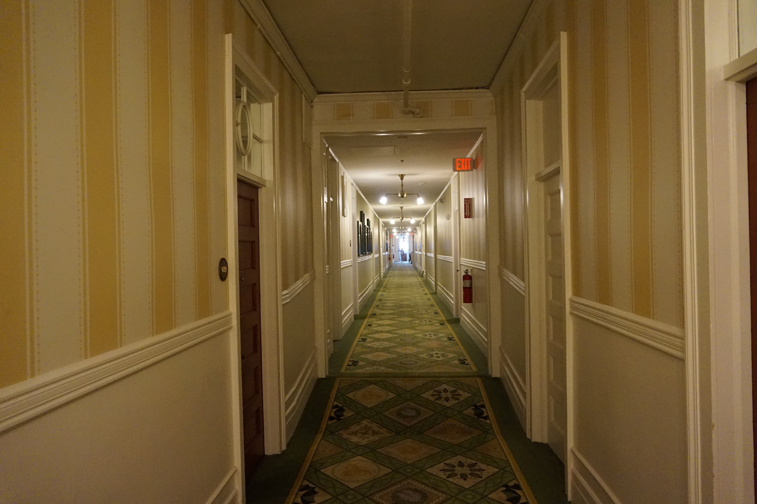 At one time there was a step where the hall gets higher