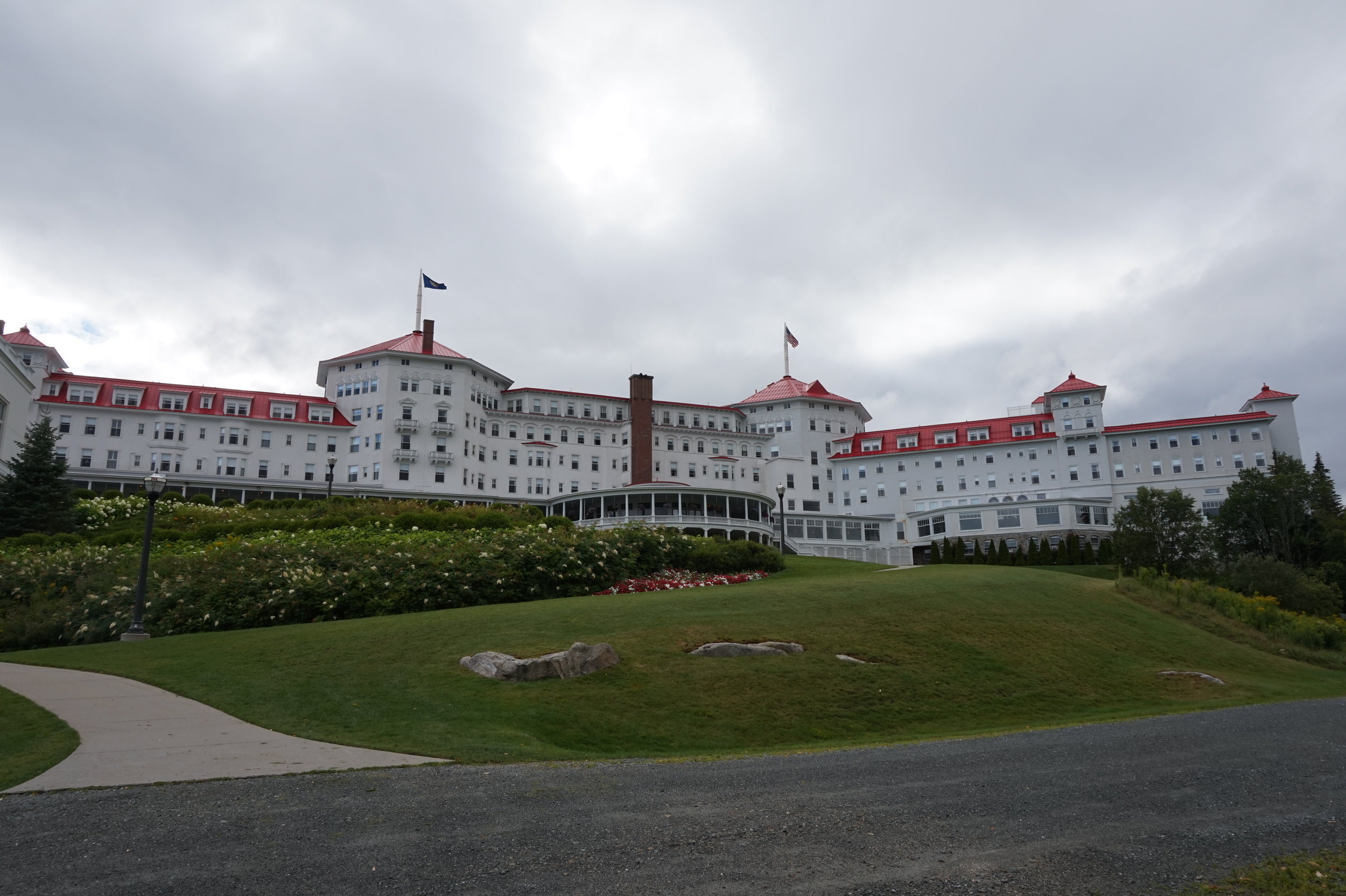 The back of the hotel.
