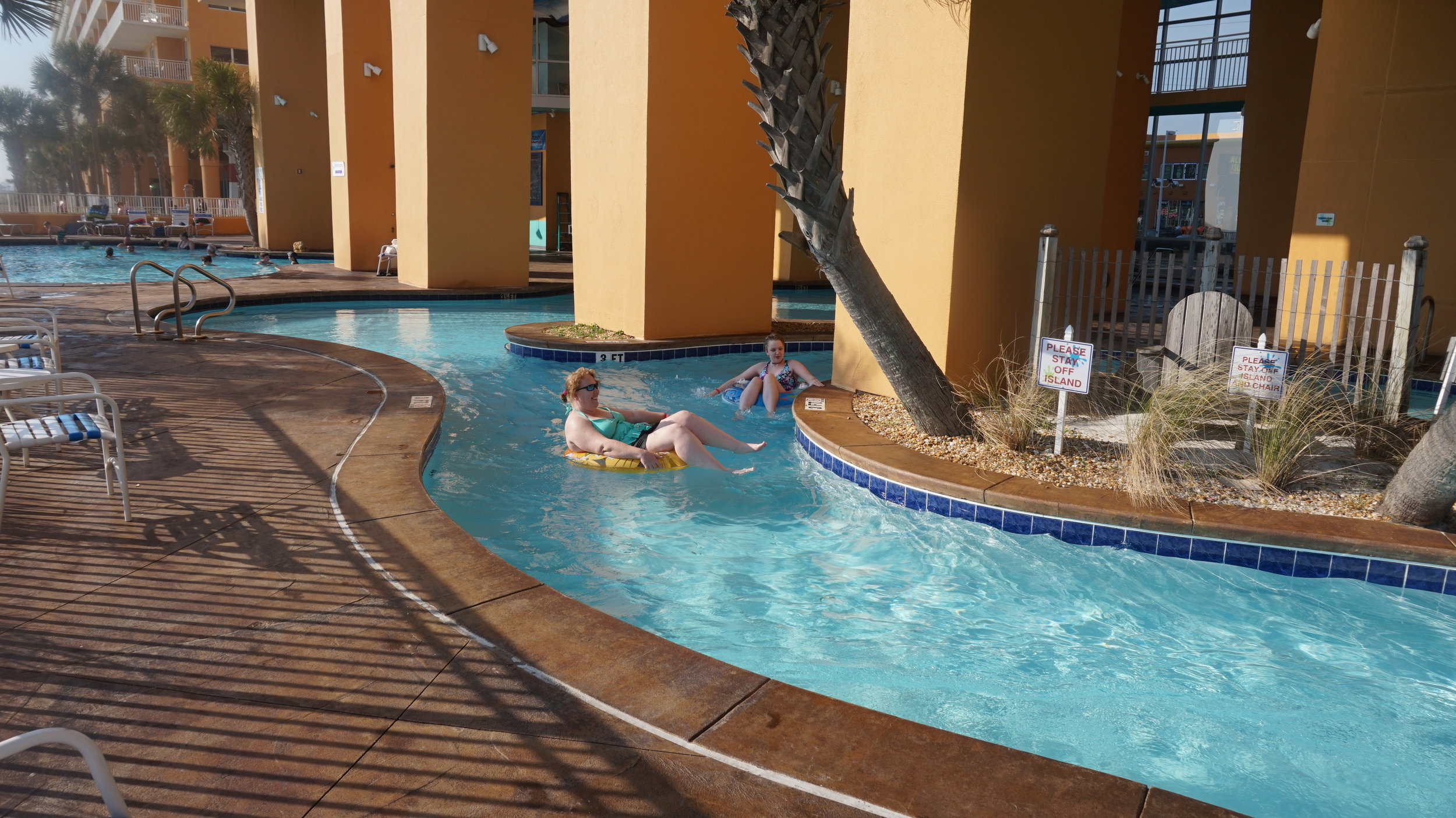 Wendy and Rachel on the lazy river.