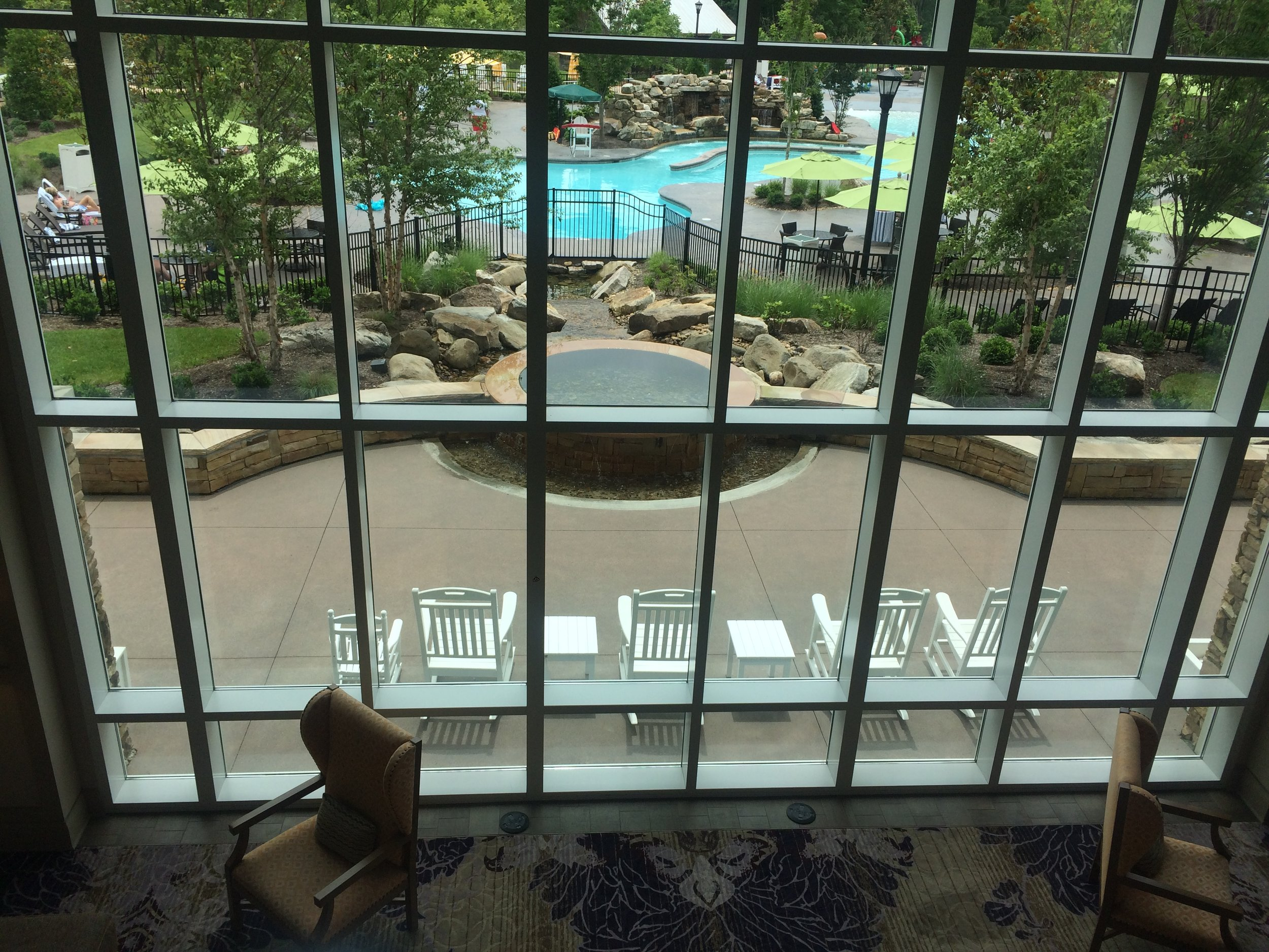 The view from the main lobby.