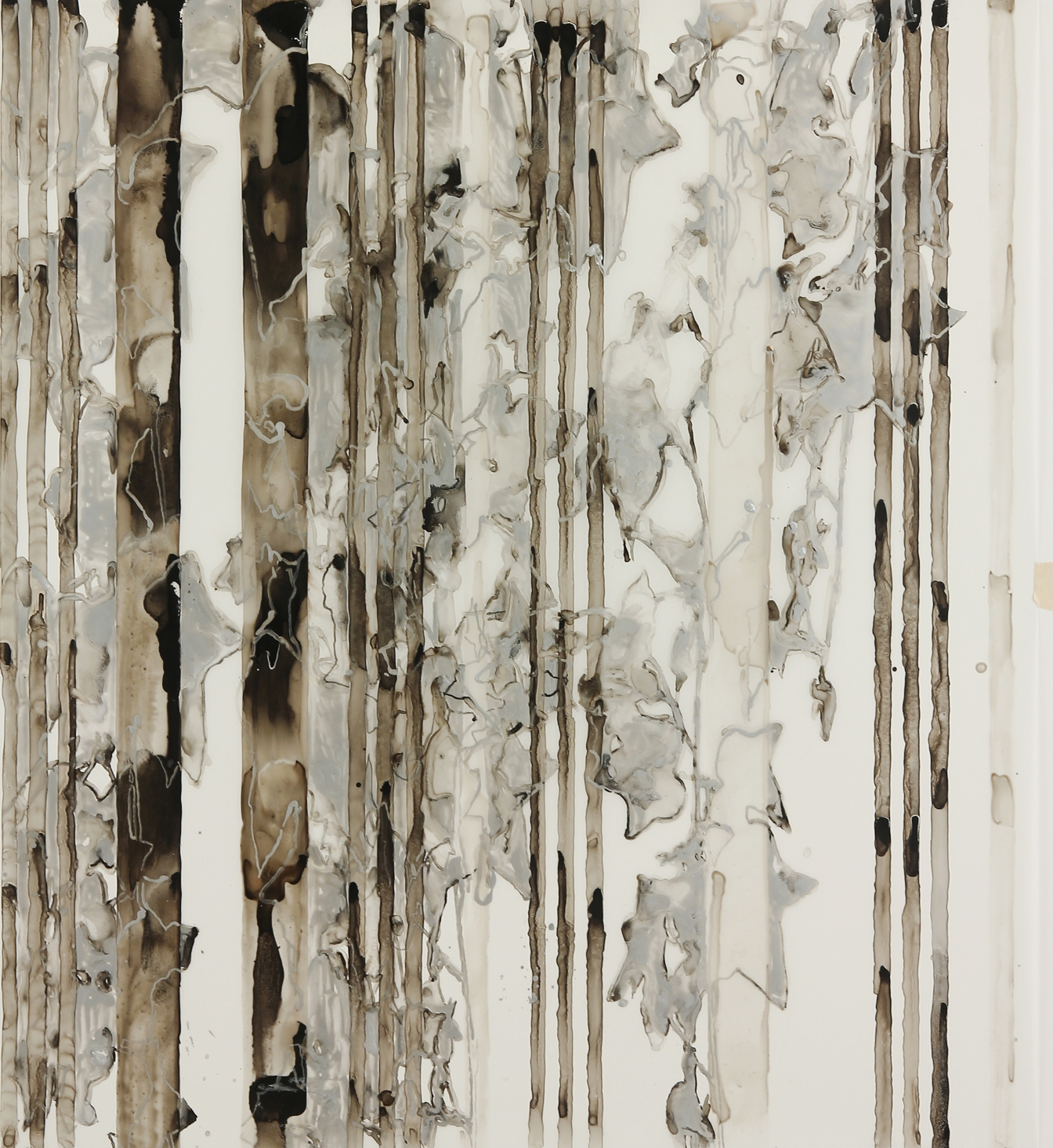 Pattern Merge: Silver Ivy on Stripe