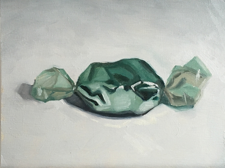 Untitled (green foil candy)