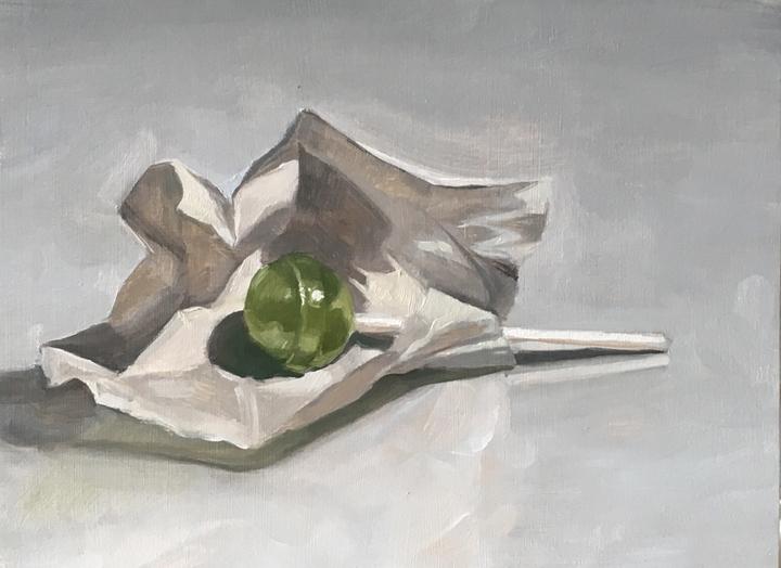 Untitled (green lollipop)