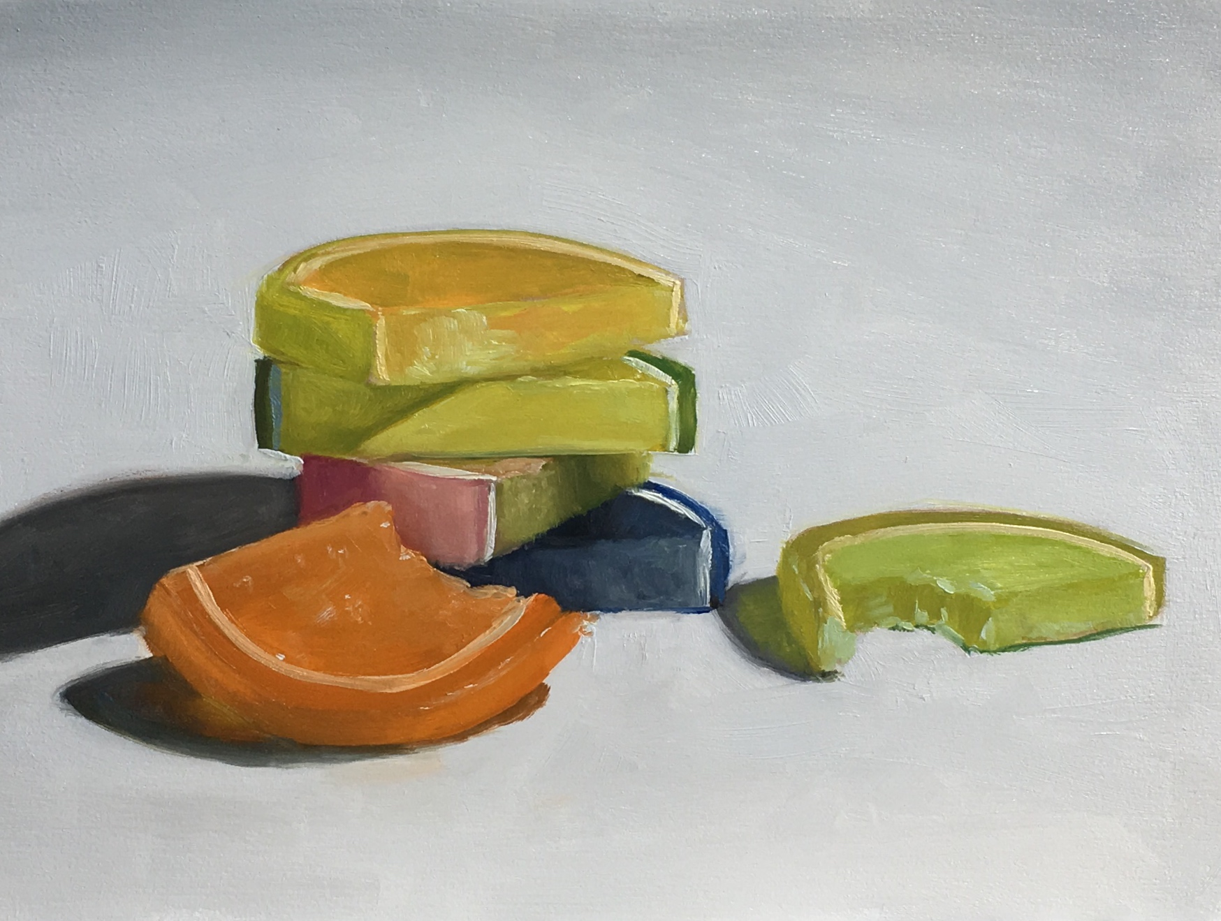 Untitled (jelly fruit slices)