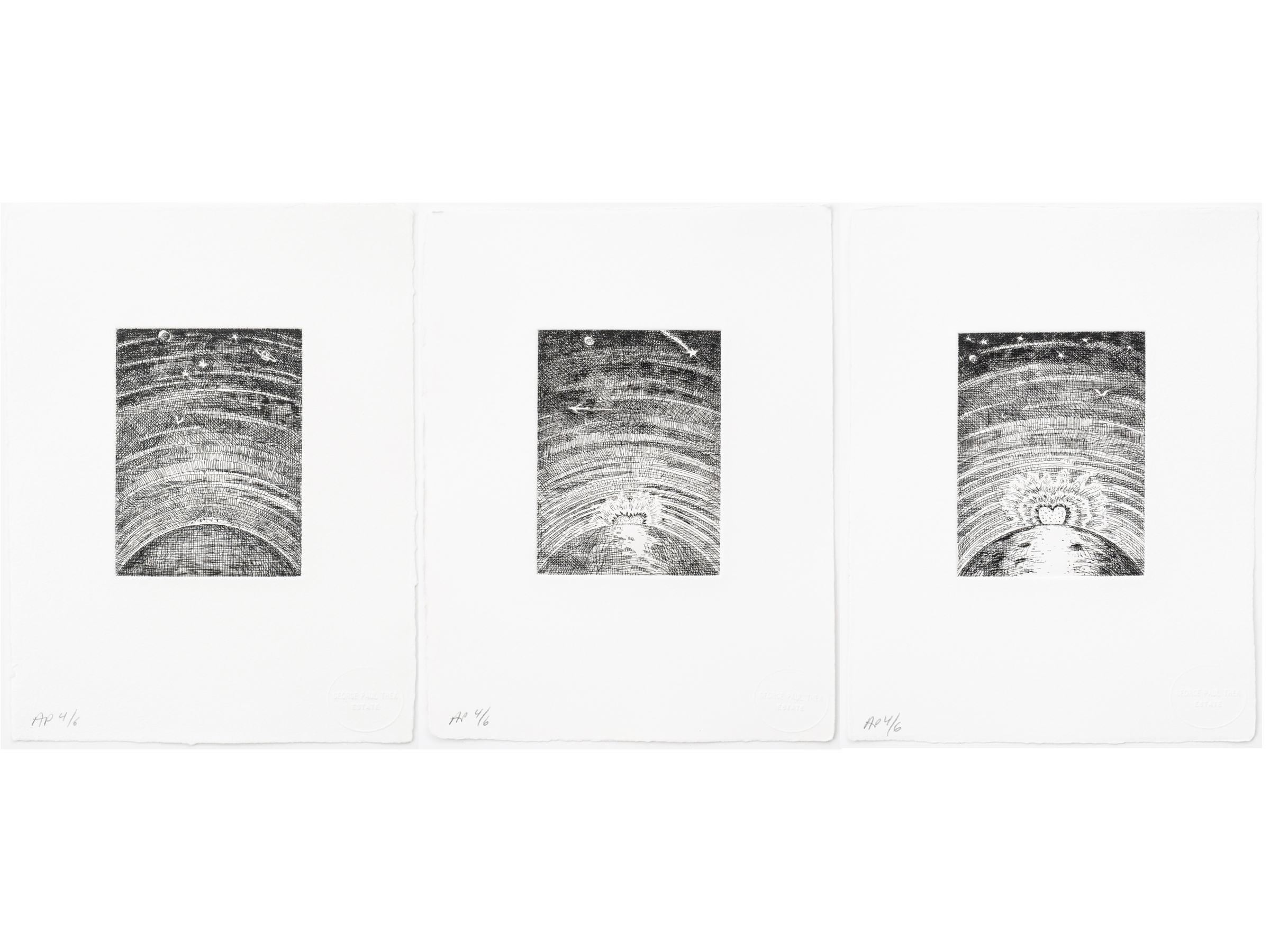 Paul Thek Rising Heart Versions 1, 2 and 3