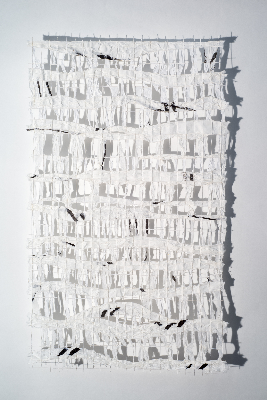 Kozo paper, Lokta twine, ink