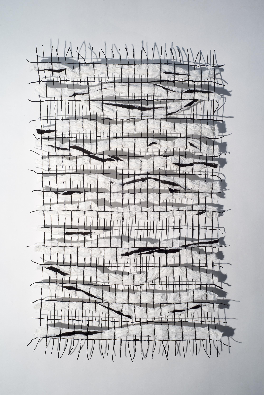Kozo paper, Lokta yarn, ink