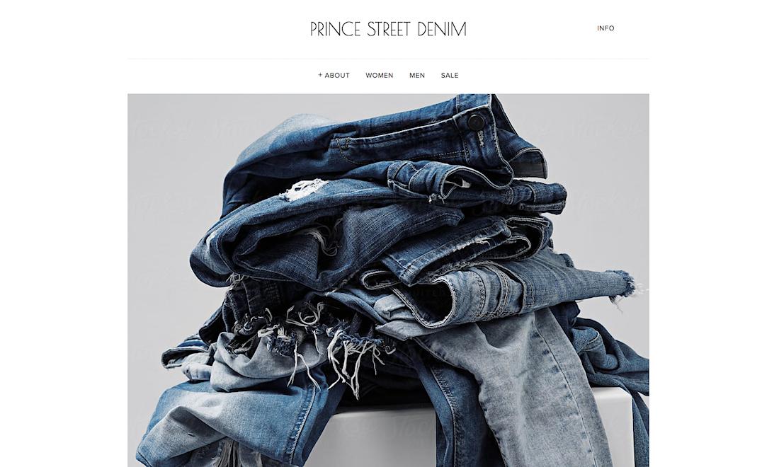 Prince Street Denim - Sample of the PREMIUM Website Offer