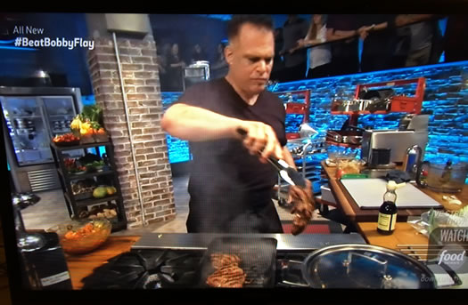 Chef Ric Orlando, on  Beat Bobby Flay  on The Food Network.