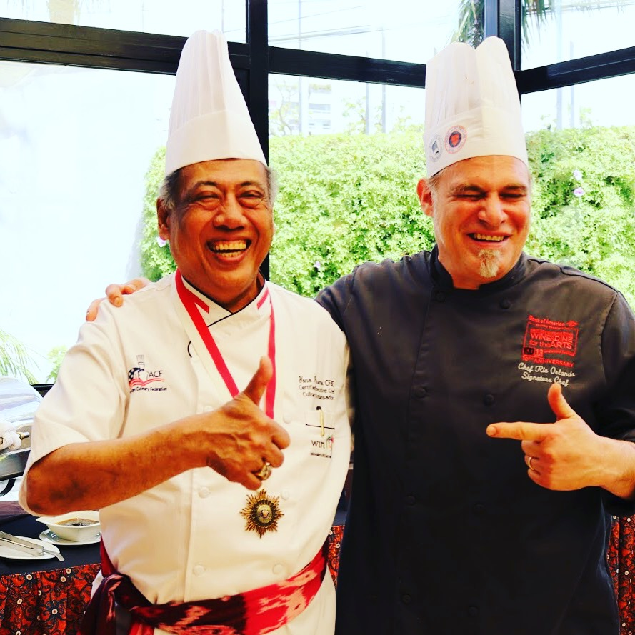 """With Chef Yono Purnomo at the Indonesian Food Festival at Meliá Lima in Peru."" – Ric Orlando"