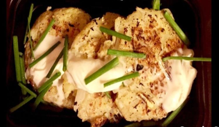 Blue Apron's Beef & Potato Latkes