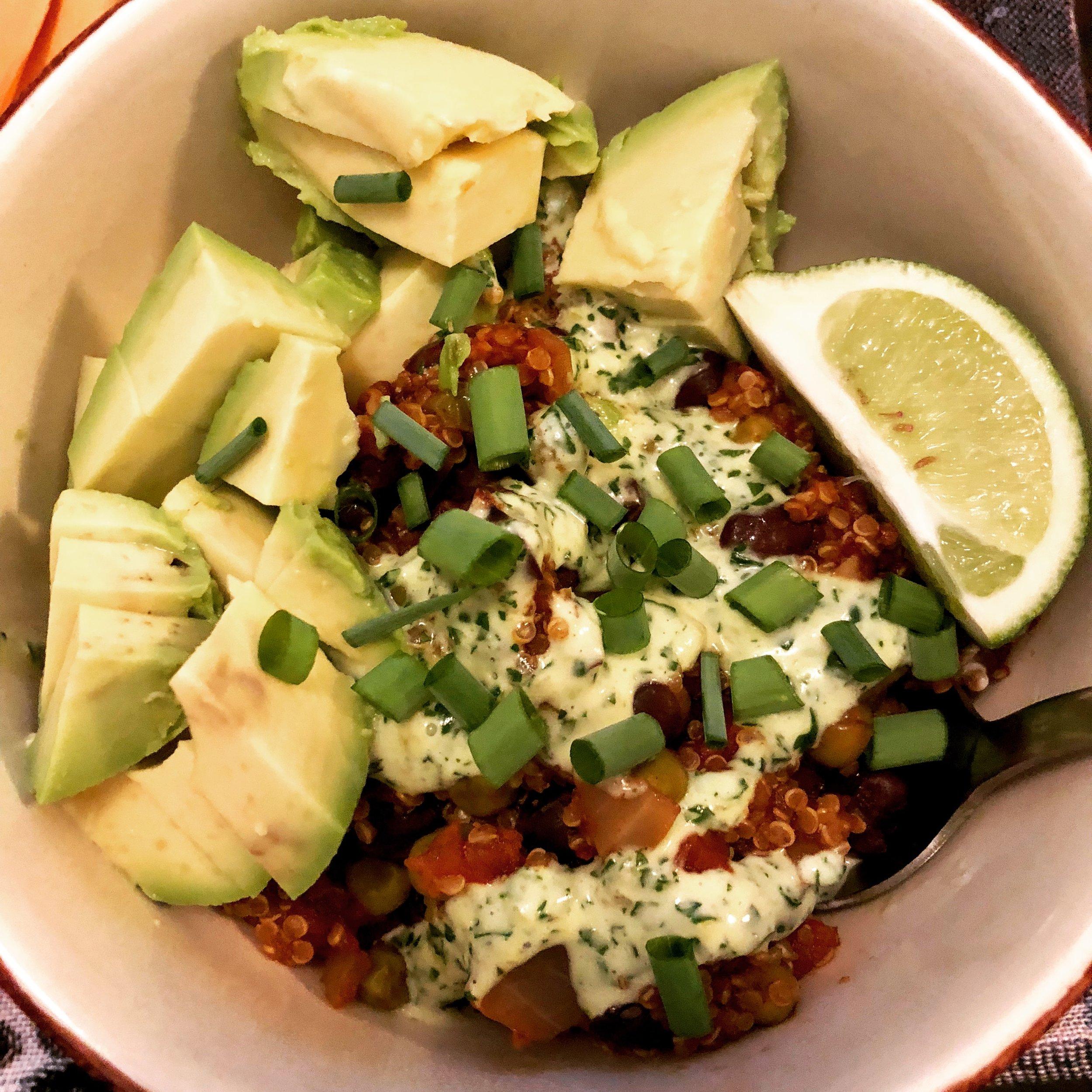 Mexican Quinoa Bowl Photo credit: Alyssa DelSoldato