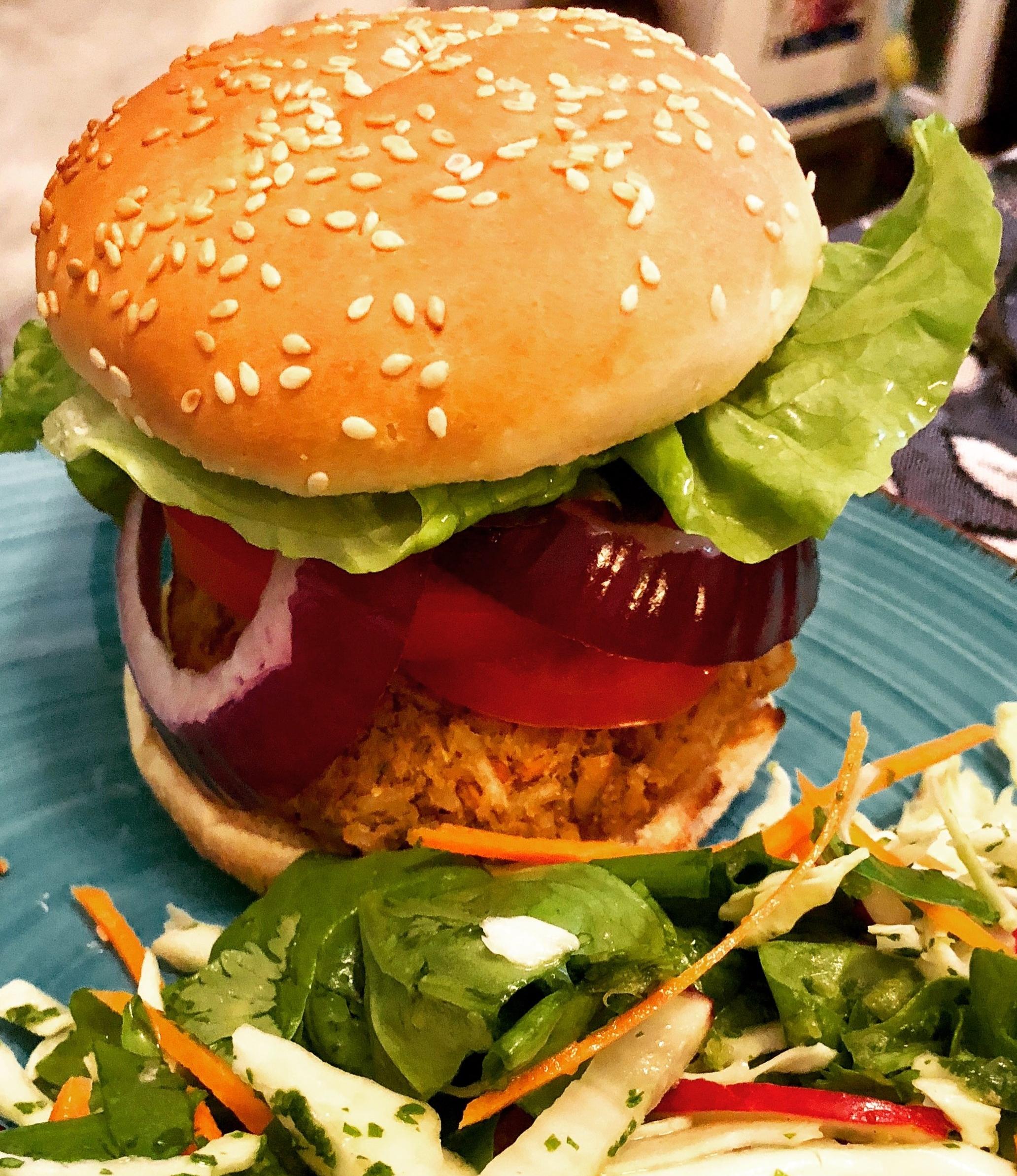 """""""Heavenly Earth burger"""" Photo credit: Alyssa DelSoldato"""
