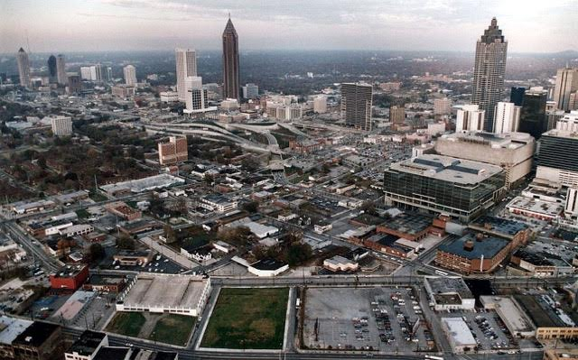 1993 Aerial View of Downtown Atlanta (Source: Georgia State University Archive)