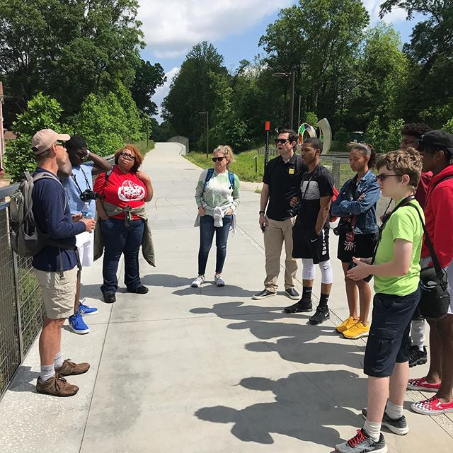 Thanks much to @atlantabeltline tour guide extraordinare John Becker for regaling us with Beltline lore during our extraordinary piece of Westside field work today. And gorgeous weather, to boot!