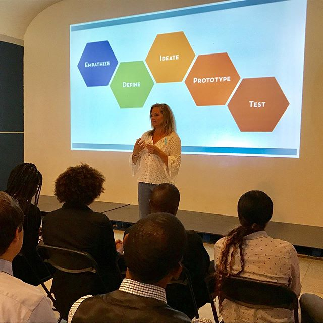 Our Design guru Ms. Deisley kicked off our Capstone presentations today with a little intro. Then our 7 groups of fellows positively ROCKED it!