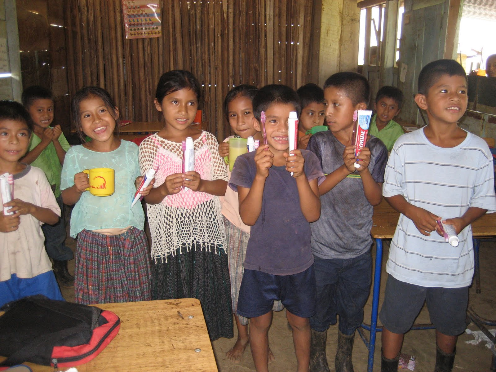 BVC Coban 2009 kids with toothbrushes.JPG