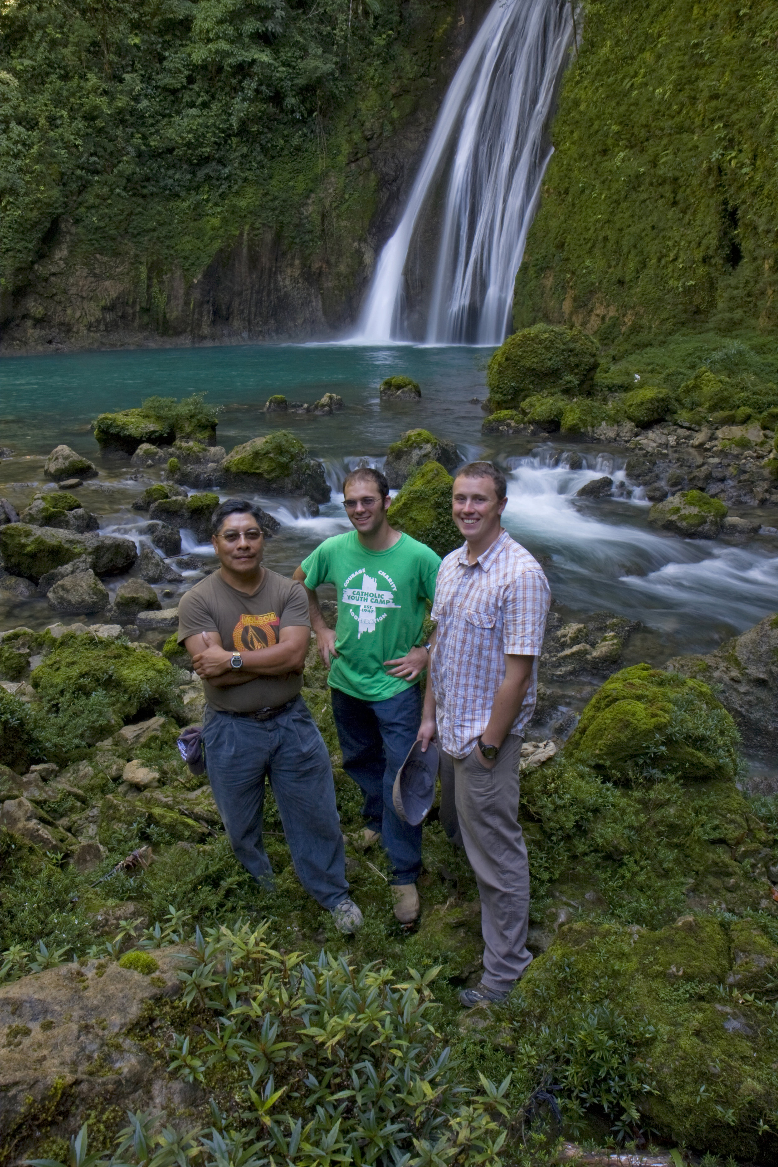 BVC Coban 2009 Matt Ott Pat Deering by waterfall.jpg