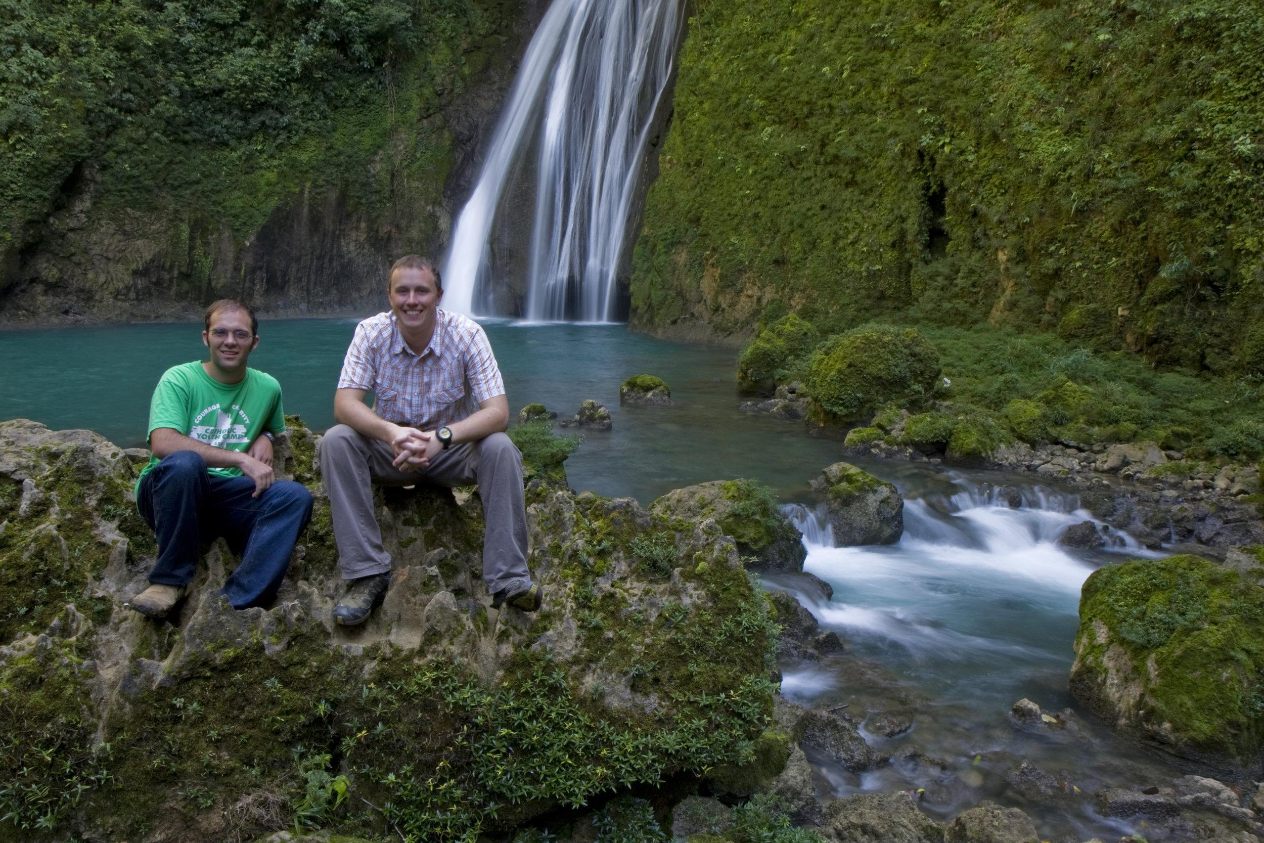 BVC Coban 2009 Pat Deering Matt Ott waterfall.jpg