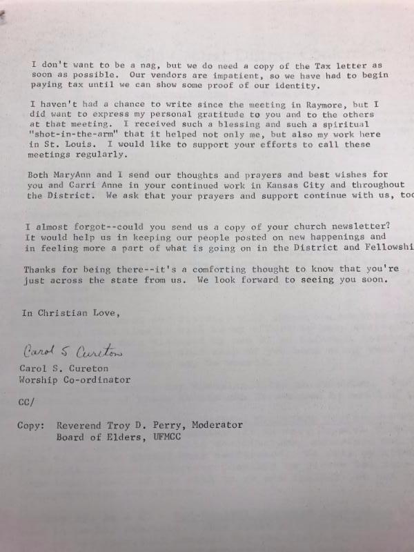 Letter from Carol Cureton Page 2.JPG