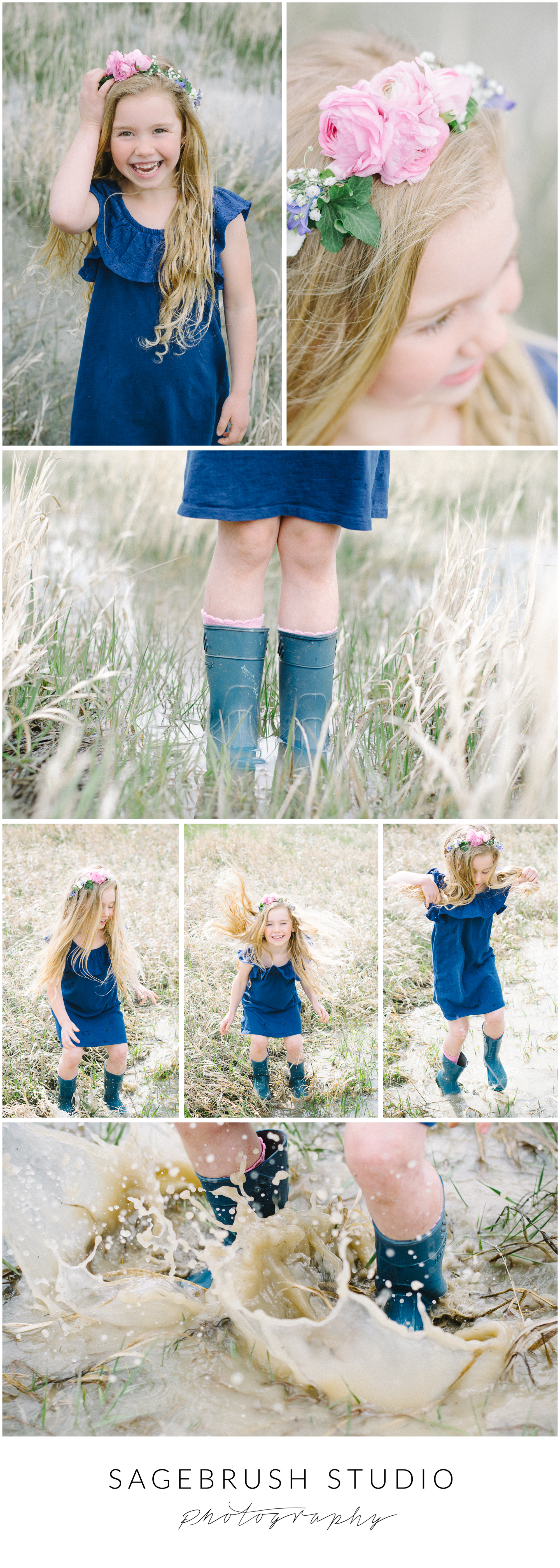 Puddle Princess Sagebrush Studio Photography. Shelby, Montana