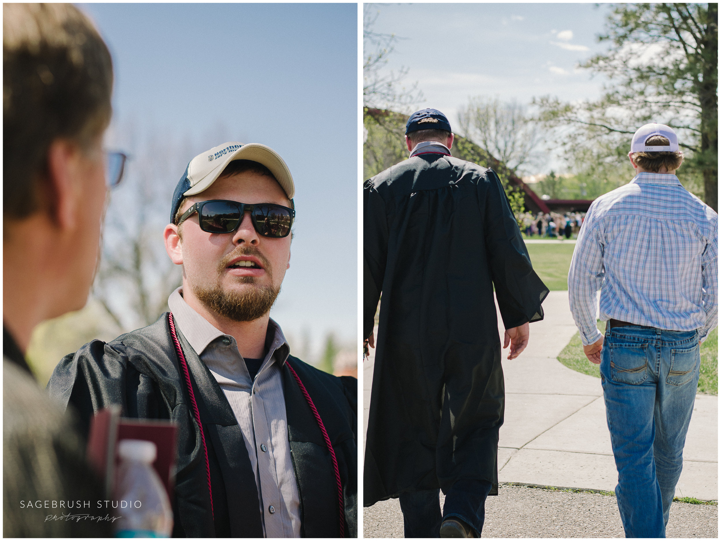 Mike graduates from MSU-Northern. Sagebrush Studio Photography from Shelby, Montana.