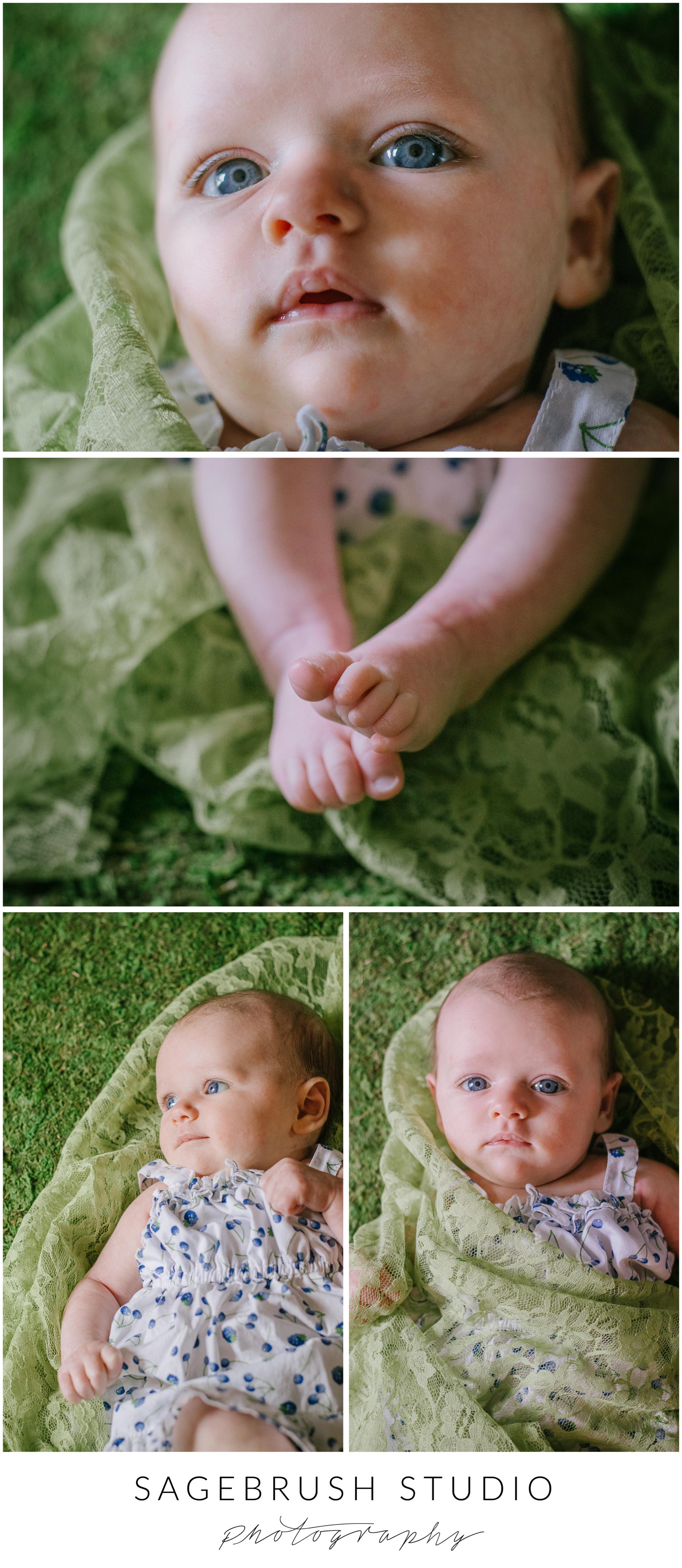 Baby Photography, Baby Blue Eyes. Sagebrush Studio Photography. Shelby, Montana