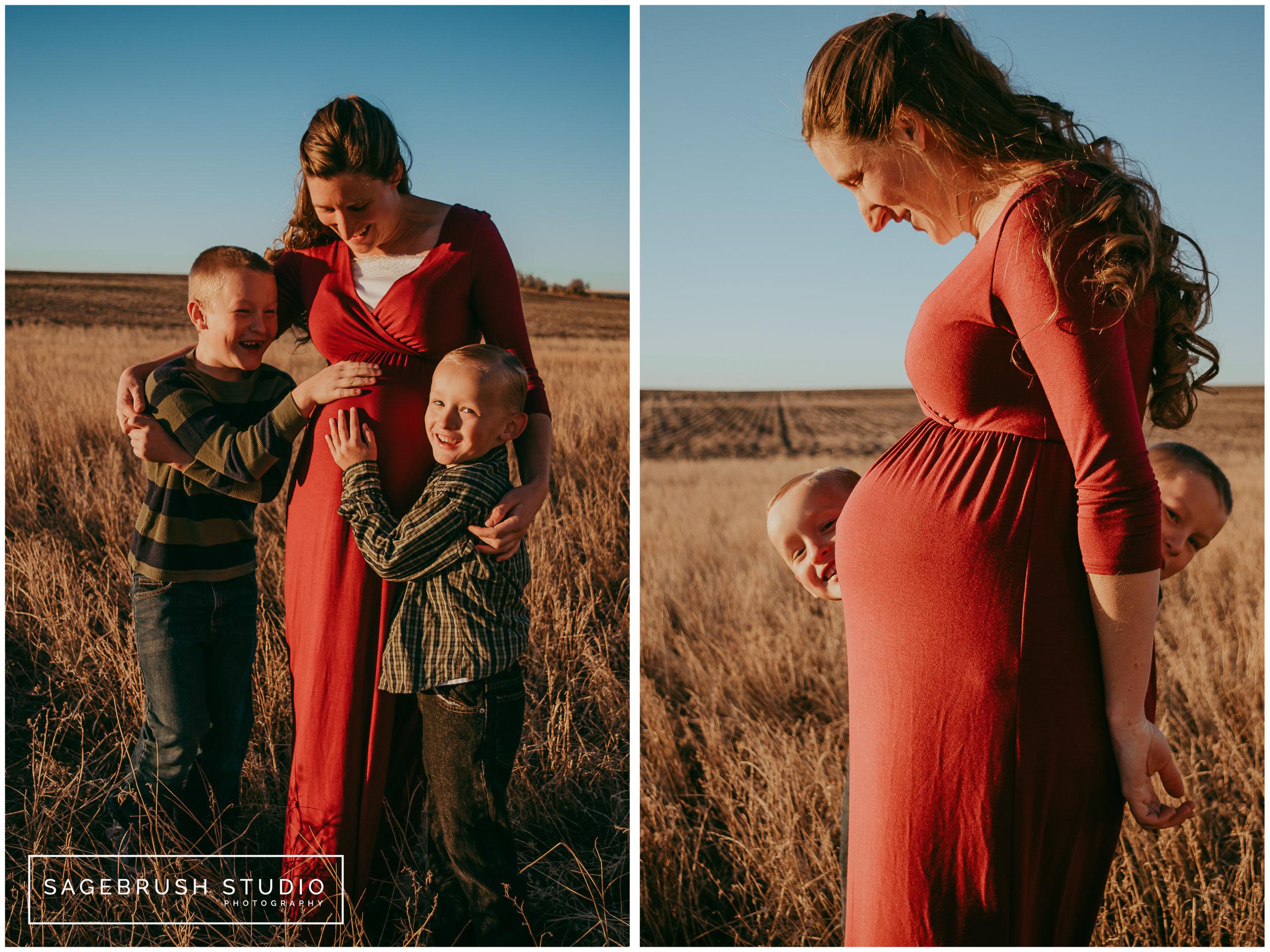 Montana Prairie Maternity Session