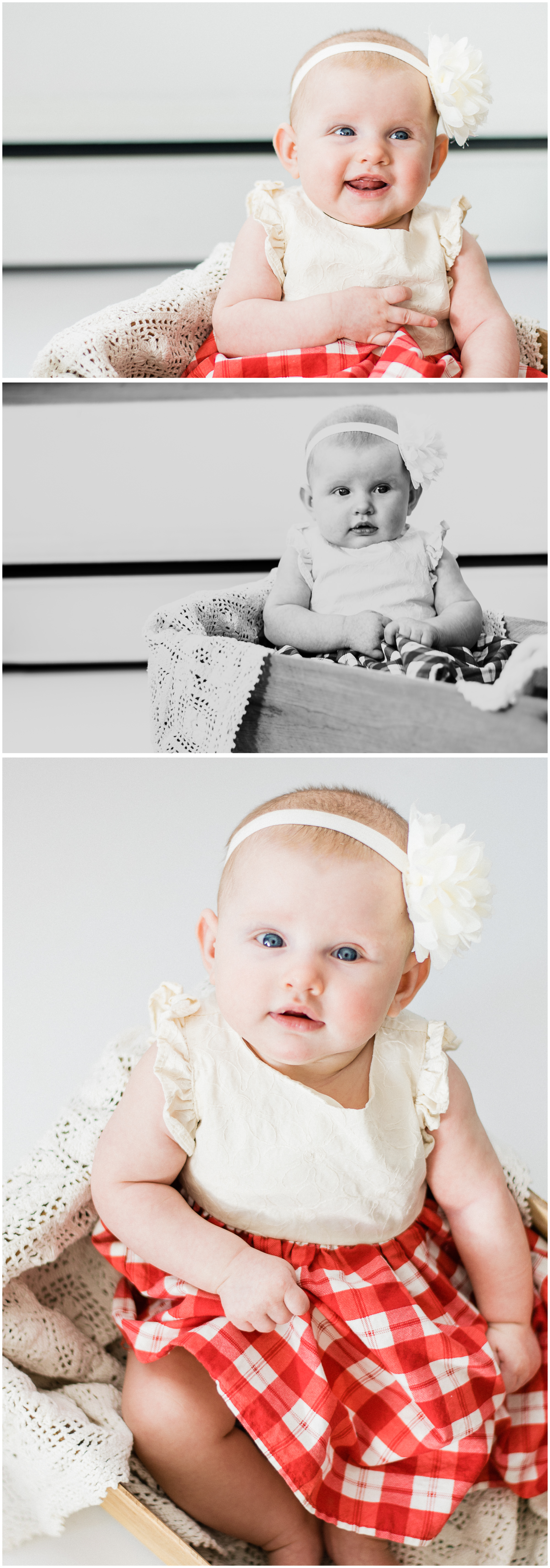 3 Month Gretta, First Year Session. Sagebrush Studio Photography from Shelby, Montana.