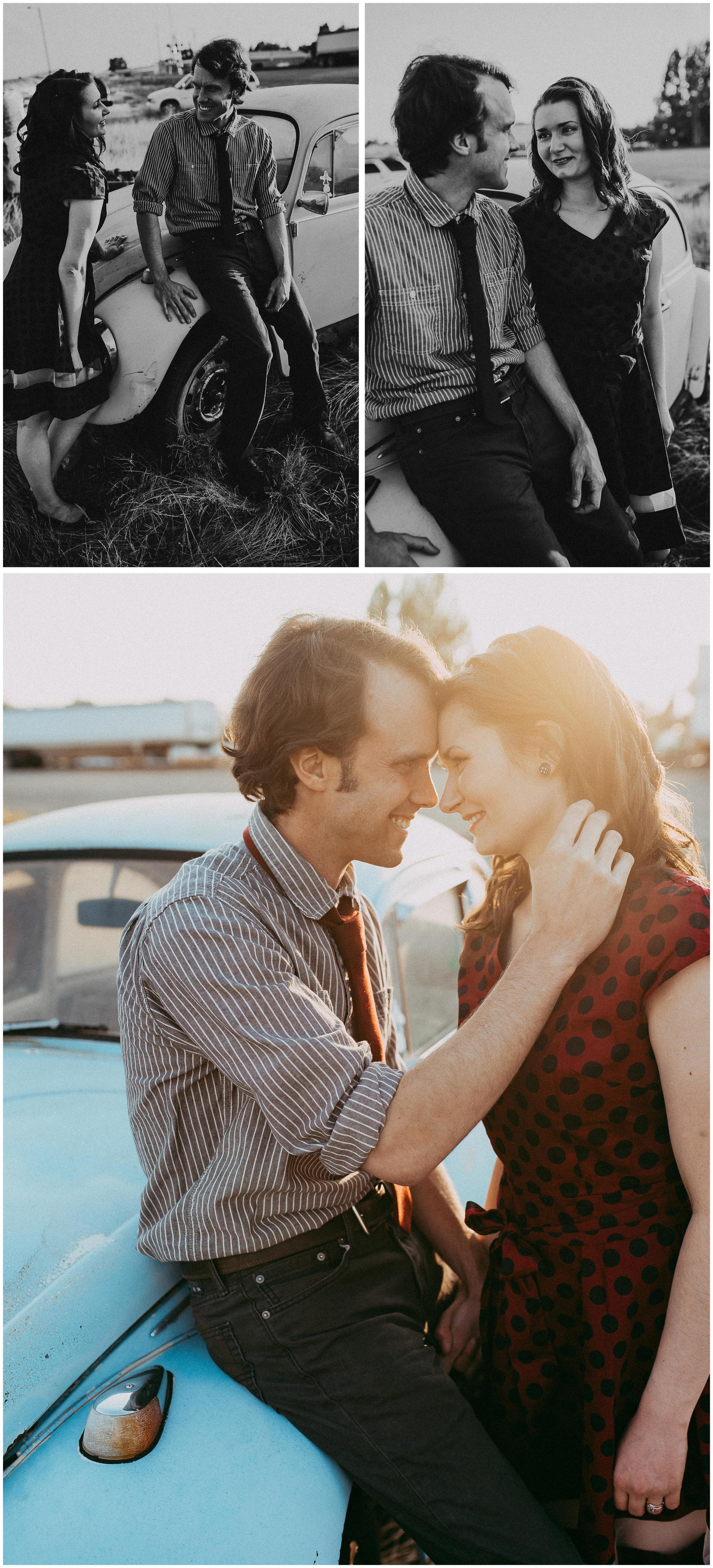 50s Engagement Session. Sagebrush Studio Photography, Shelby Montana.