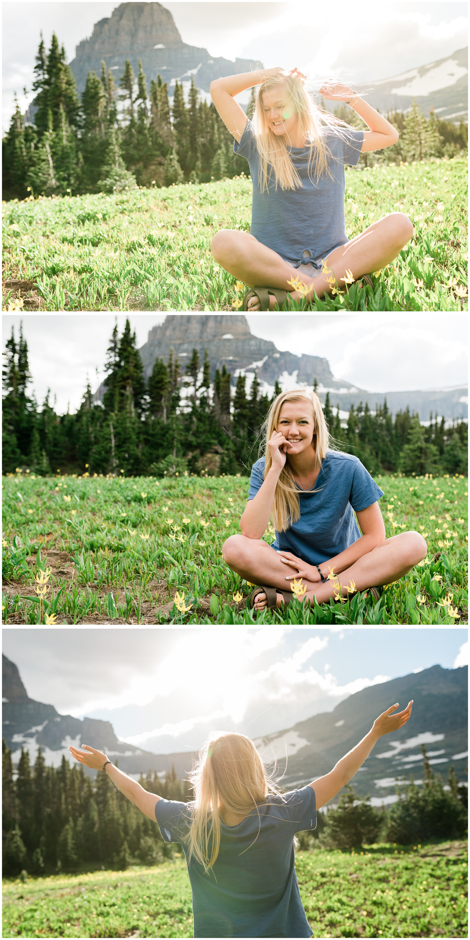 Kim's Glacier National Park Senior Session