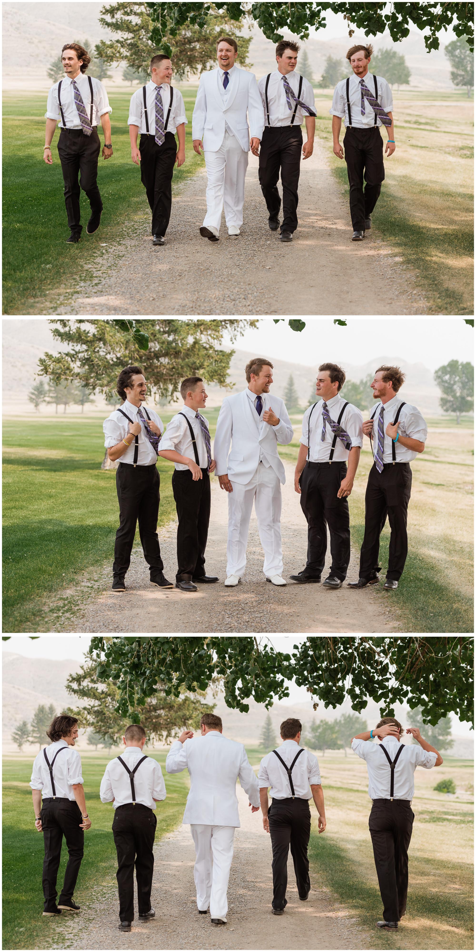 The boys, Smoky Montana wedding