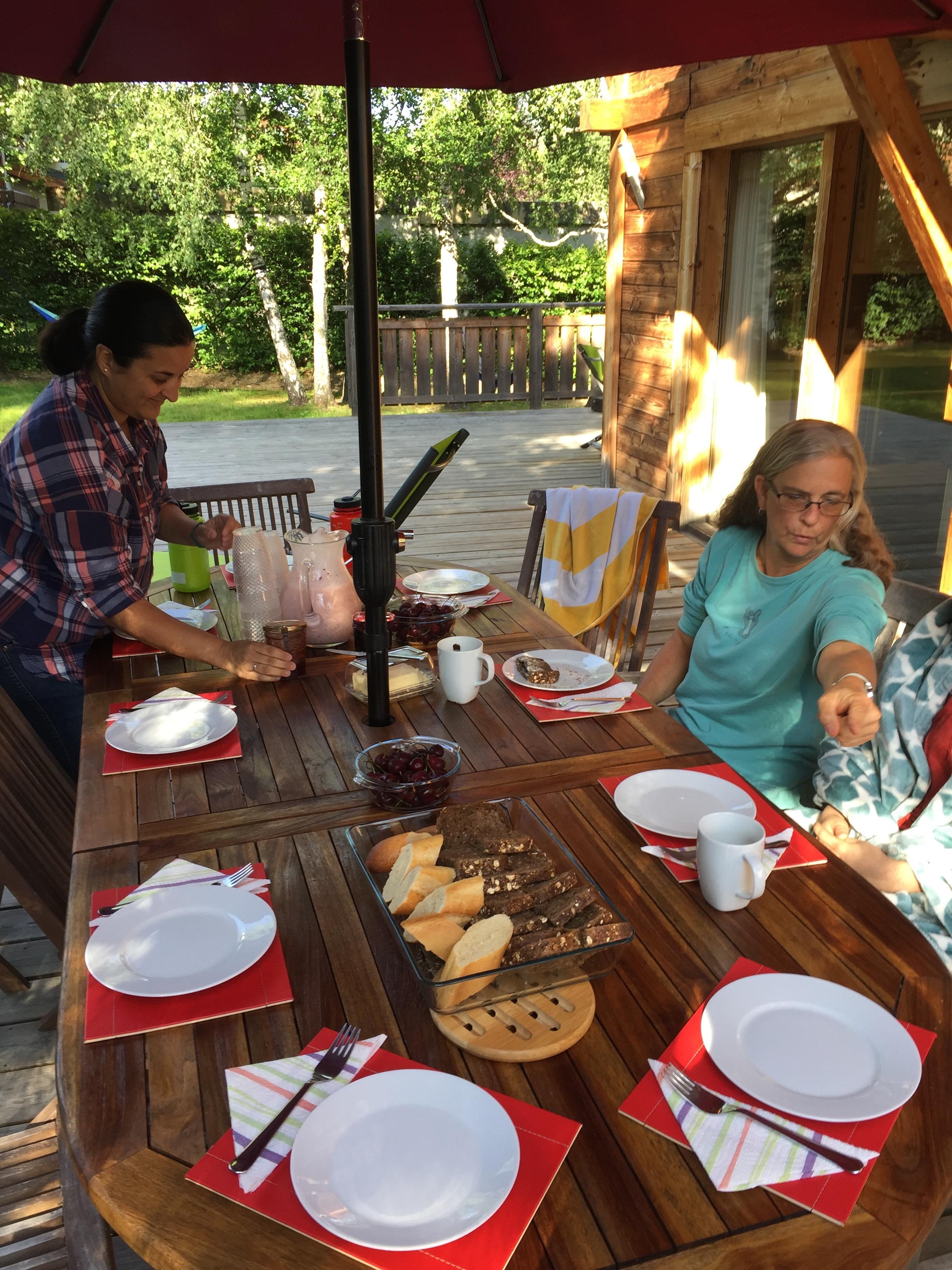 Breakfast in Chamonix
