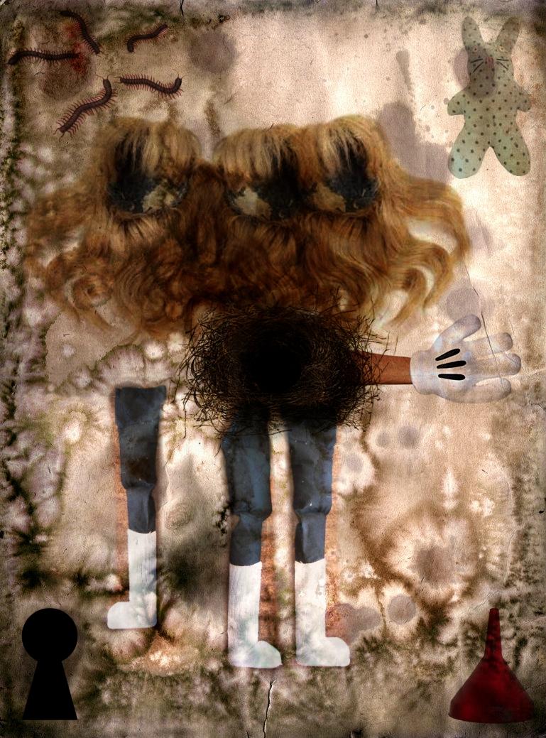 """Wig Kid Traps"" 2017 Mixed Media Photo Collage"