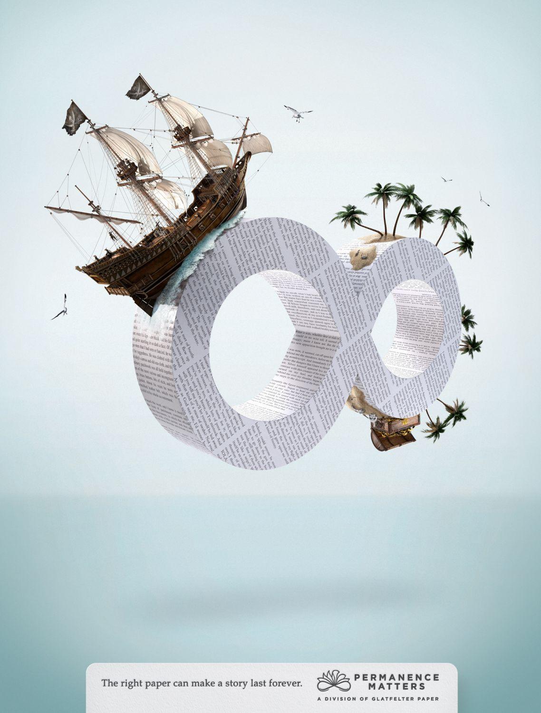 AGENCY-BOONE OAKLEY > ART DIRECTOR-MATT KLUG > CLIENT-GLATFELTER PAPER  100% CGI