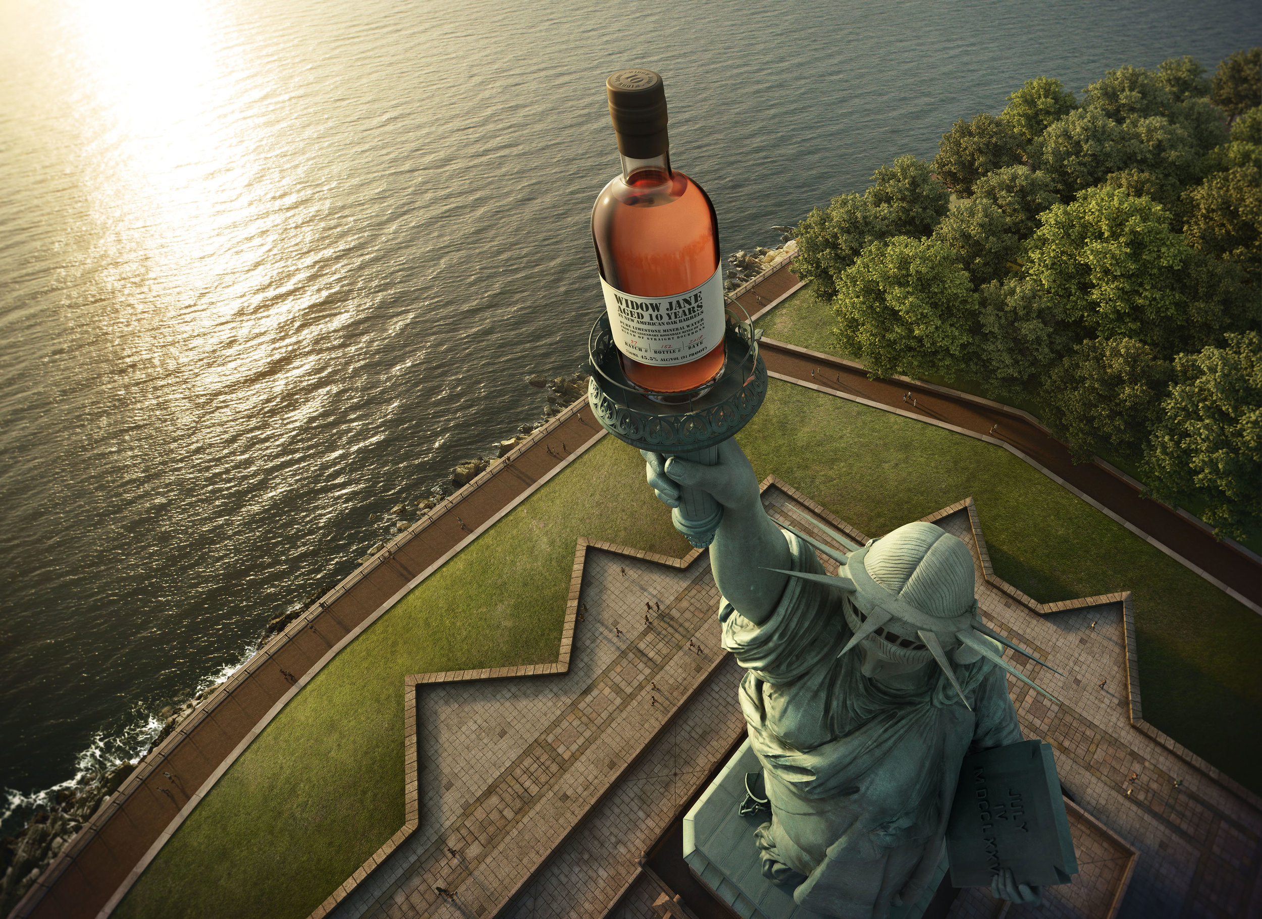 AGENCY-JAC CREATIVE > ART DIRECTOR-JACK JANKOWSKI > PHOTOGRAPHY-(WATER) WAYNE CALABRESE > CLIENT-WIDOW JANE DISTILLERY  CGI AND CREATIVE IMAGING MIX