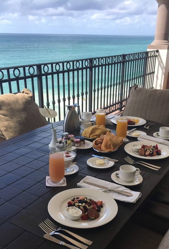 A Healthy Breakfast and a Beautiful View
