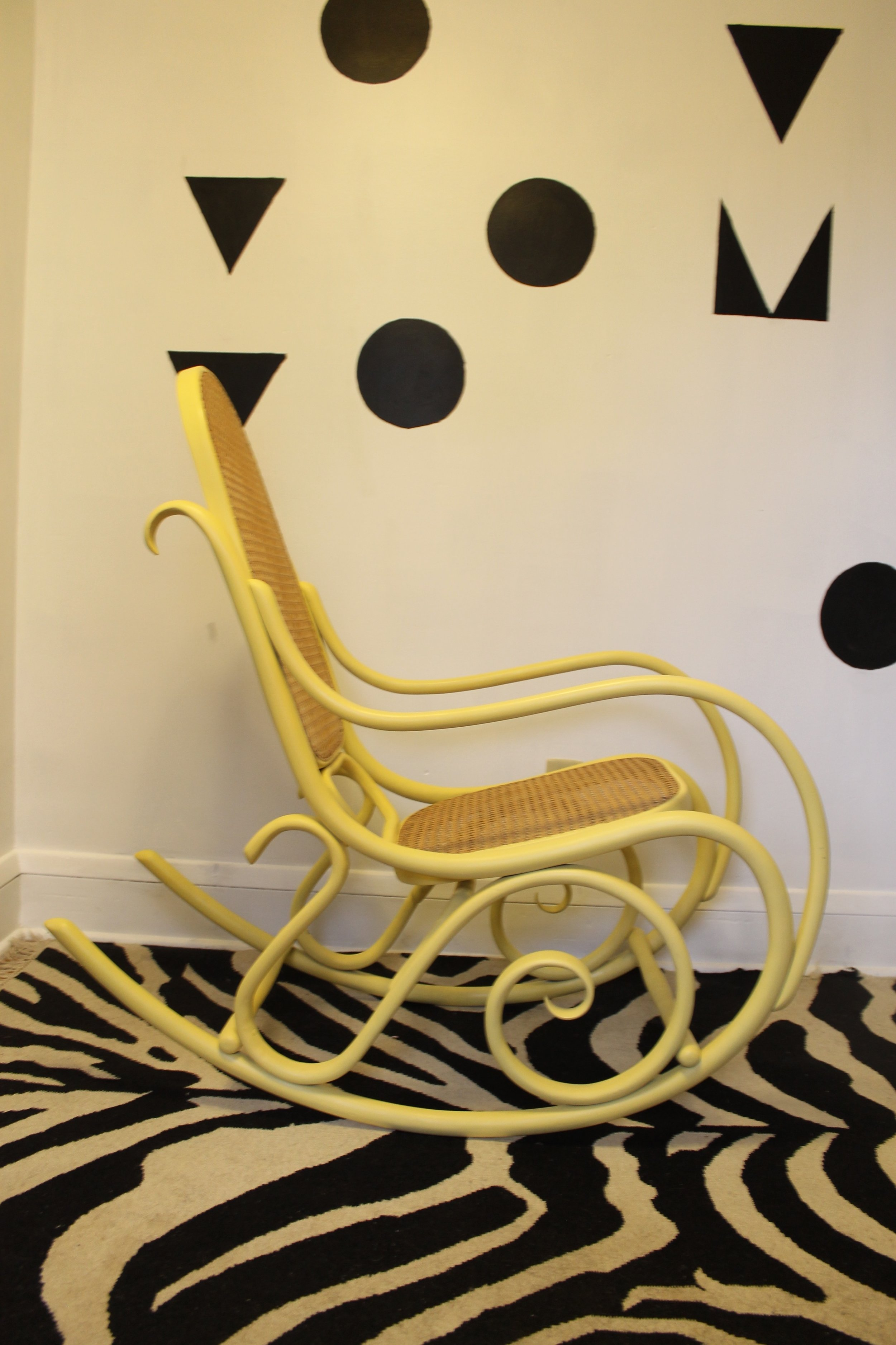 Rocking on Sunshine Upcycled Bentwood Rocker