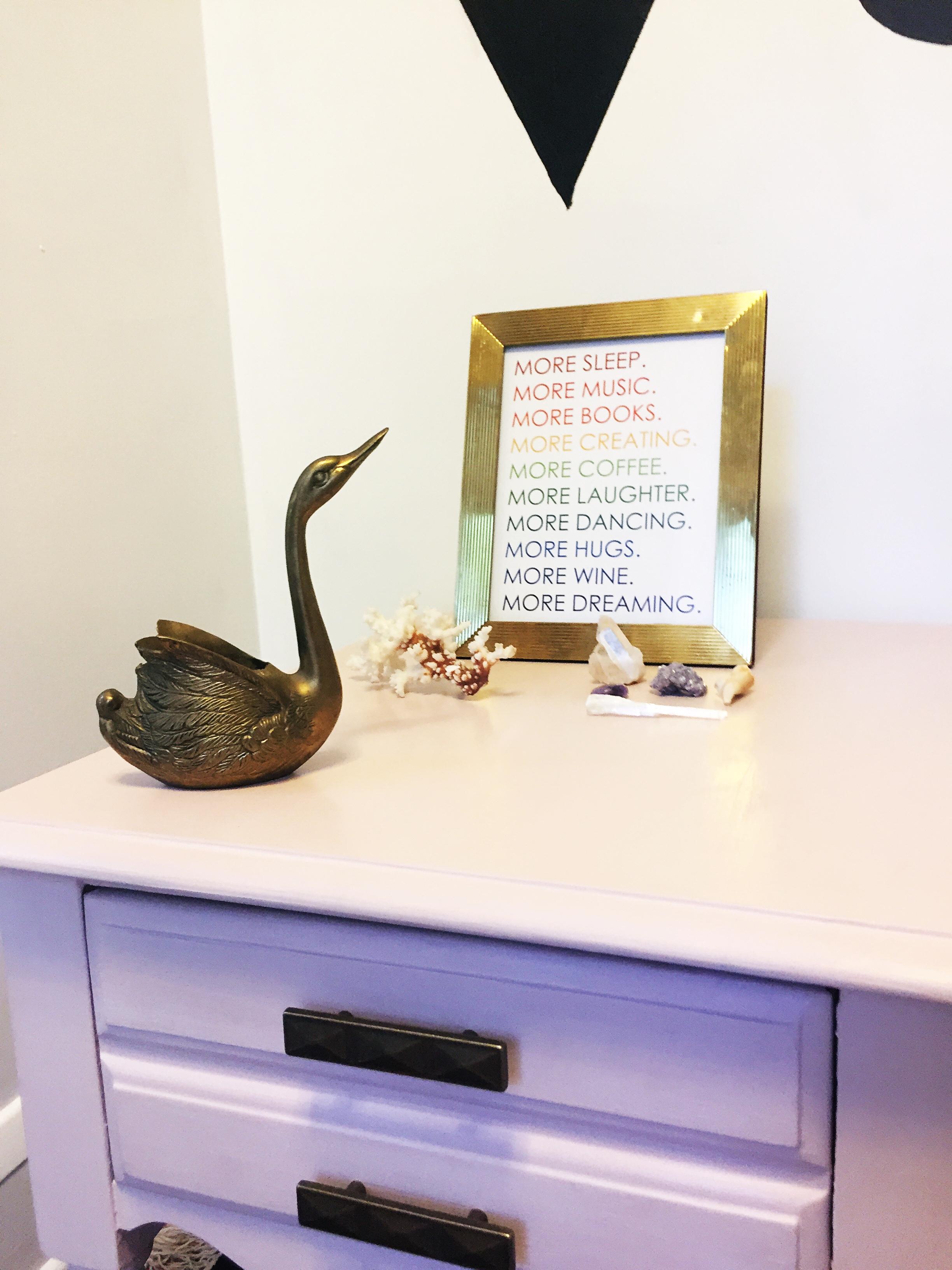 Brass Swan Planter
