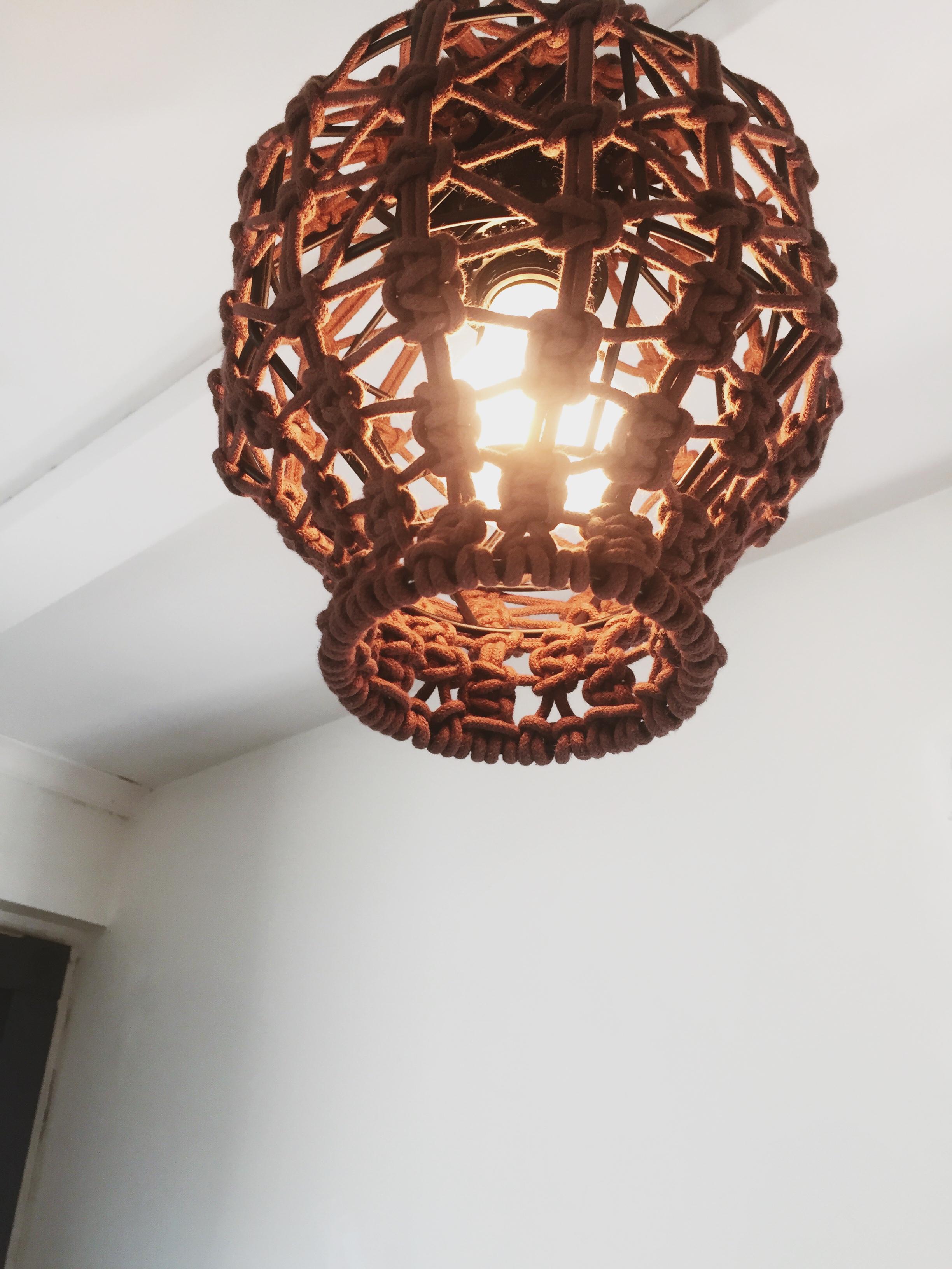 macrame light fixture