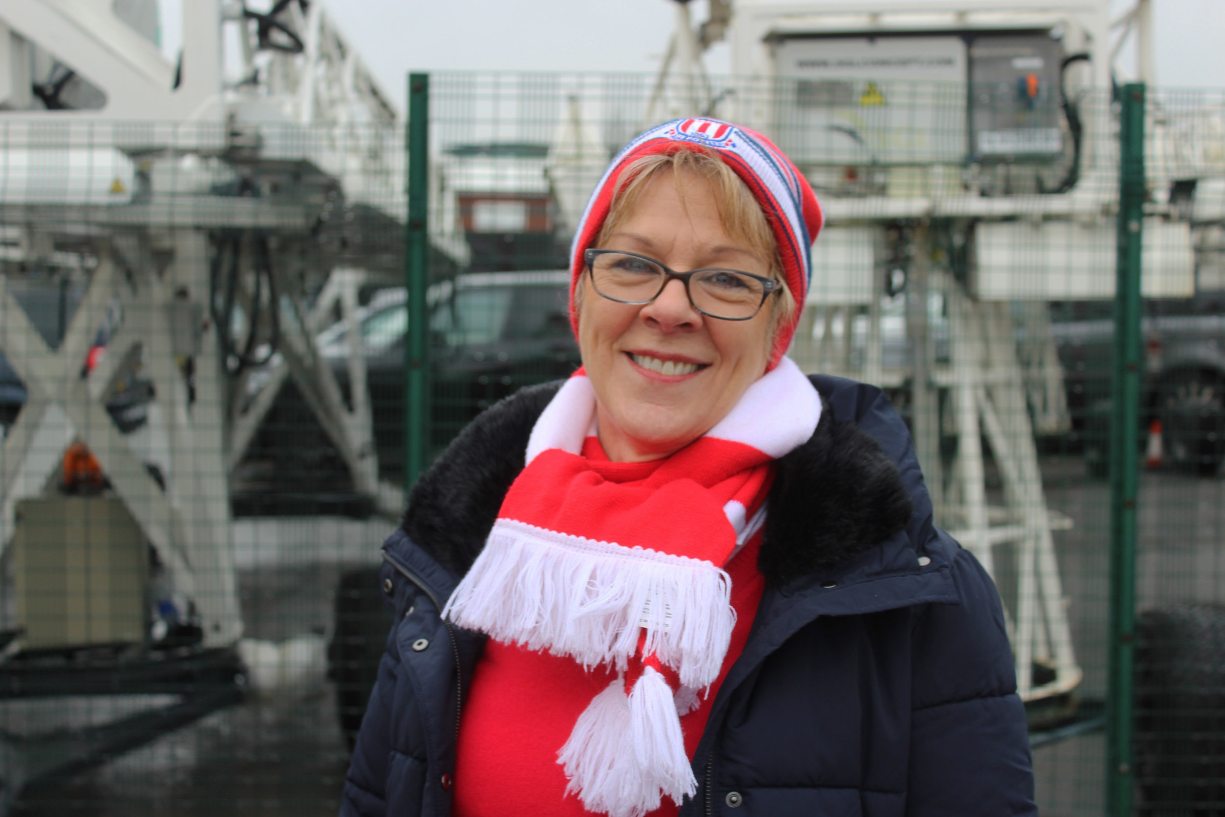 Stoke City Female Football Fan