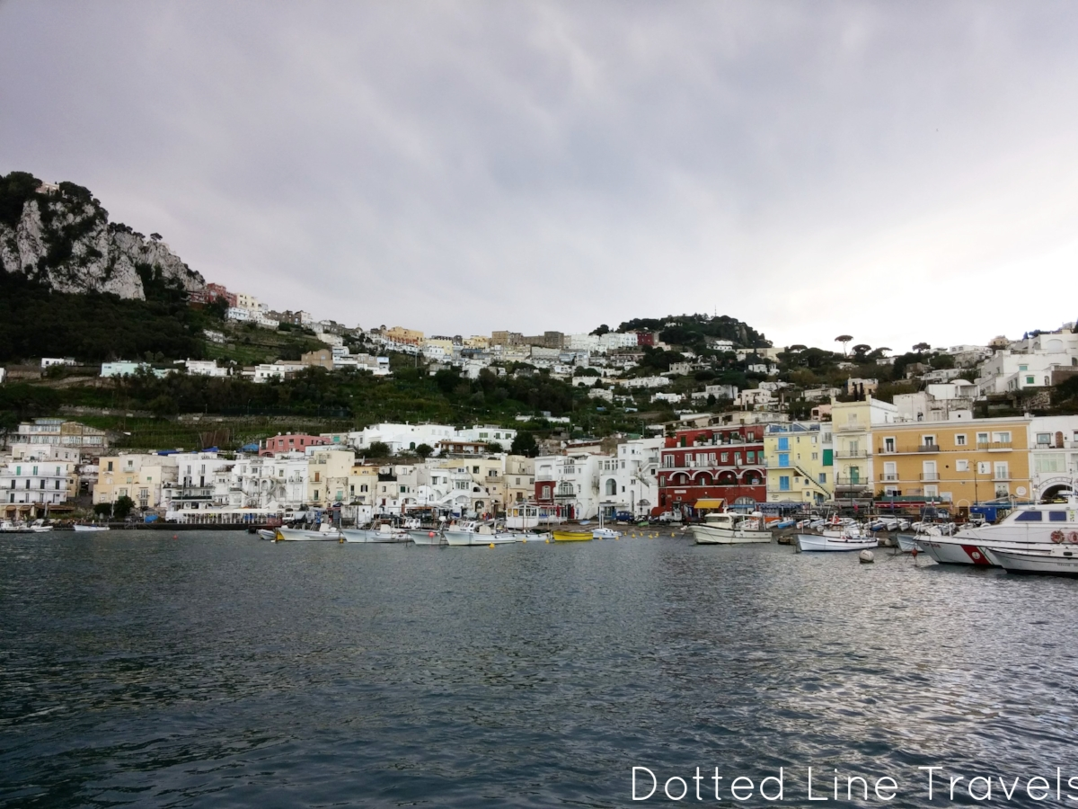 The first photo I snapped of Capri, right as we got off the ferry at Marina Grande.