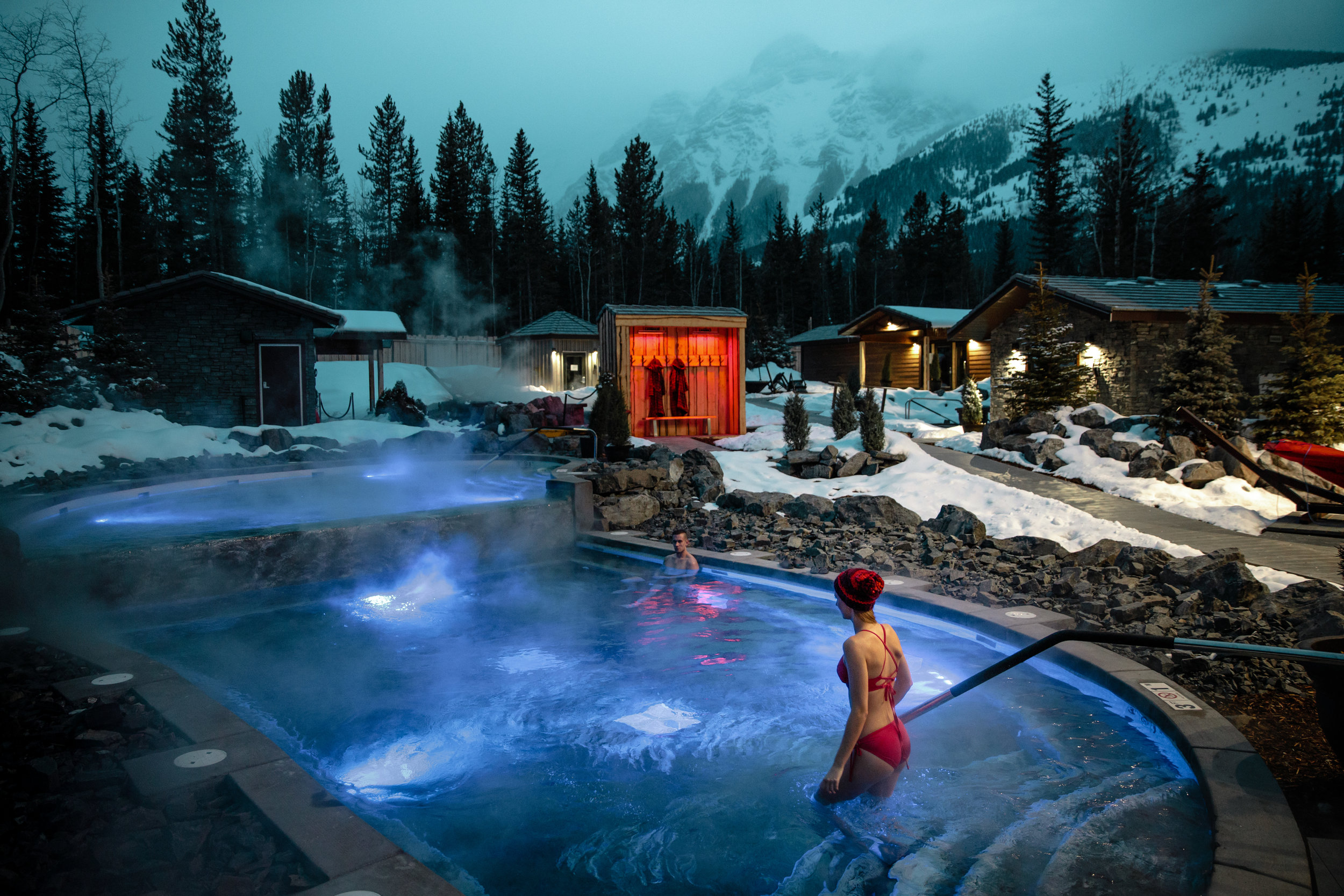 Photo credit: Mike Seehagel, Travel Alberta, Kananaskis Nordic Spa. Used with permission.