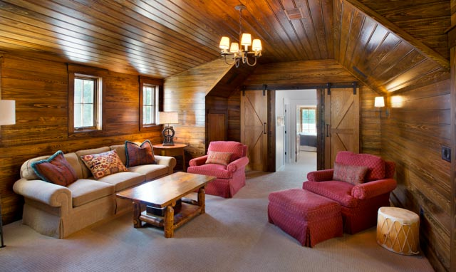 Luxury Country Farmhouse Media Room