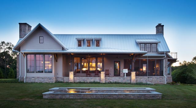 Luxury Country Farmhouse Front Porch