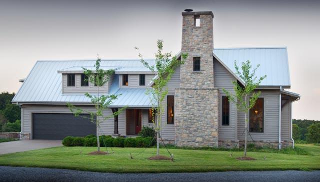 Luxury Country Farmhouse Stone Fireplace