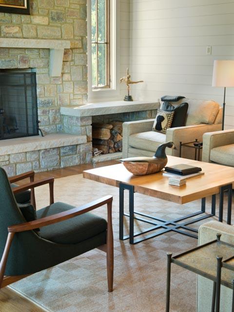 Luxury Custom Farmhouse Stone Fireplace