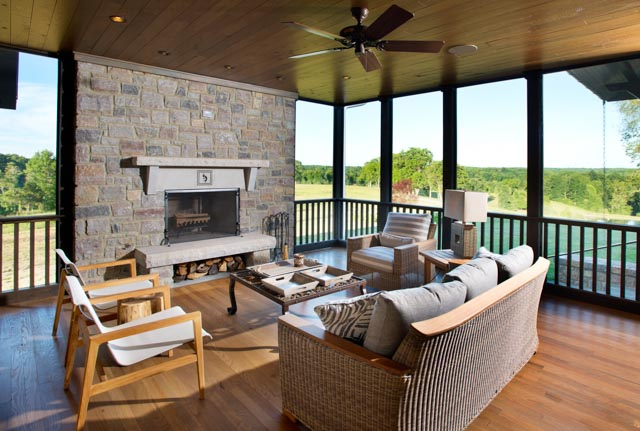 Luxury Country Farmhouse Outdoor Living Space