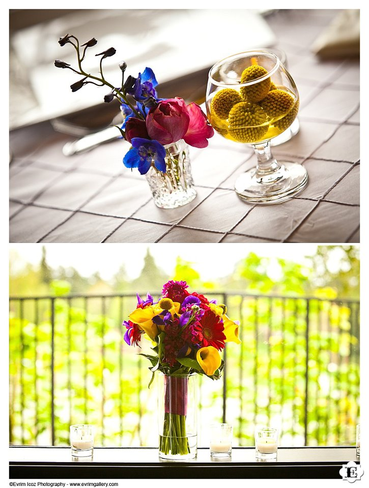 Lush Floral Design in Portland Oregon | Wedding Florist for The Foundry in Lake Oswego | Evrim Icoz Photography